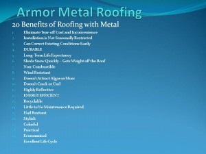Armor Metal Roofing 20 Benefits of Metal Roofing