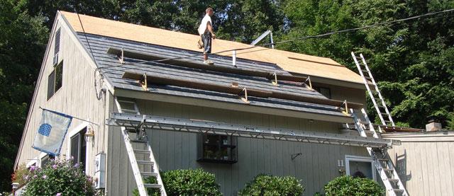 Grey Metal Shingle Roof New Hampshire