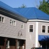 blue metal roof