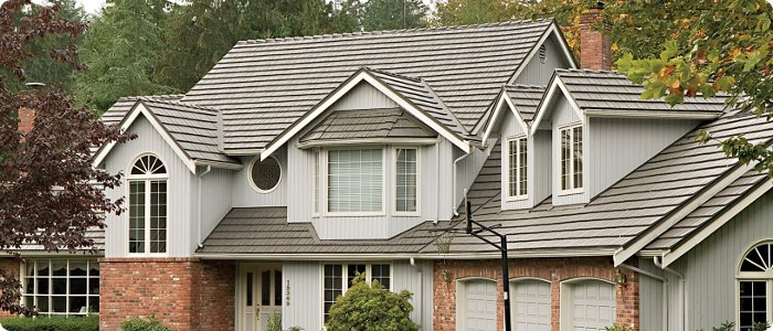 Mustang Brown Rustic Metal Shingle Roof