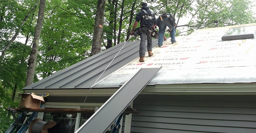 architectural shingles installation. Metal Roof Installation Project Architectural Shingles